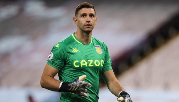 Emiliano Martínez tiene contrato con Aston Villa hasta el 2024. (Foto: Agen