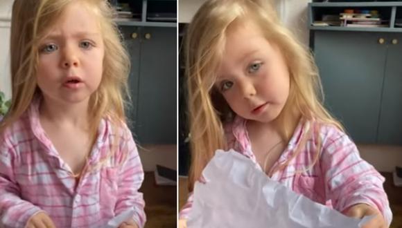 Una niña de 3 años criticó a su madre tras haber hallado su dibujo en la papelera. (Foto: SWNS / YouTube)