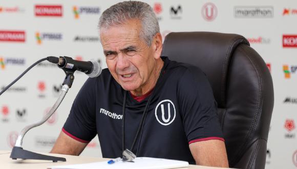 El técnico de Univesitario habló luego de caer 2-0 ante César Vallejo. (GEC)