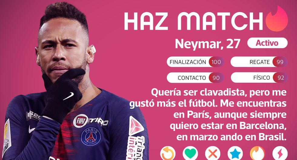 Tinder de Neymar. Haz match. (Diseño: Depor)