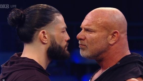 Goldberg y Roman tuvieron un candente careo en el último SmackDown. (Foto: WWE)
