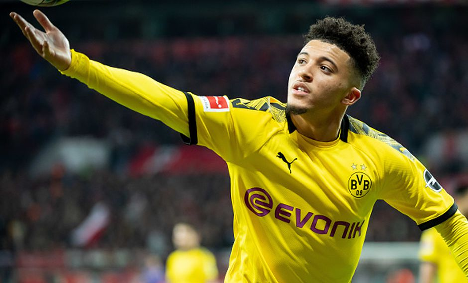 Jadon Sancho suma 15 tantos y 14 asistencias, convirtiéndose en el jugador más joven en alcanzar los 25 goles en la Bundesliga. (Getty)