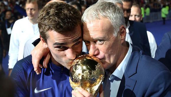 Griezmann ganó el Mundial 2018 con Francia y con Deschamps como entrenador. (Getty)