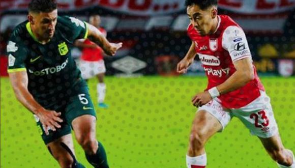 Atlético Nacional empató 2-2 con Santa Fe por la jornada 9 de la Liga BetPlay 2020. (Foto: Twitter)