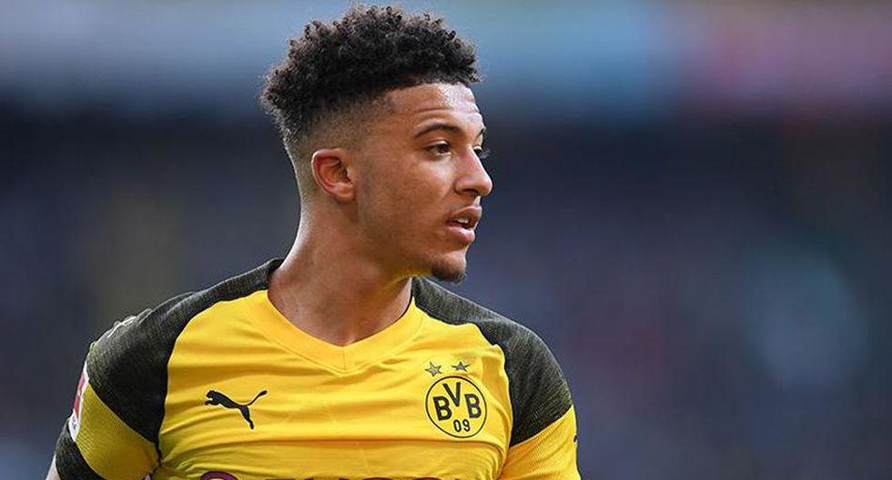 Jadon Sancho llegó al Borussia Dormtund procedente del Manchester City. (Getty)