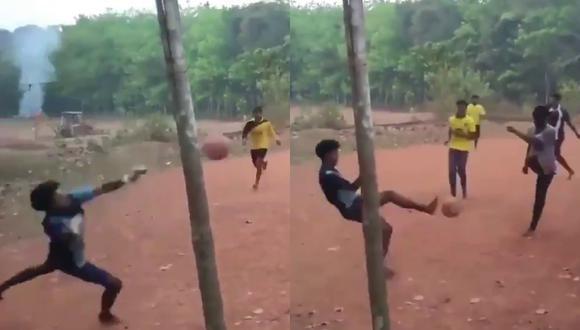 Un video viral muestra las alucinantes habilidades defensivas de un joven guardameta para resistir a los embates ofensivos de sus rivales. | Crédito: @ErikSolheim / Twitter.