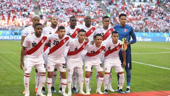 El once de la Selección Peruana que debutó en Rusia 2018. (Foto: Gian Ávila)