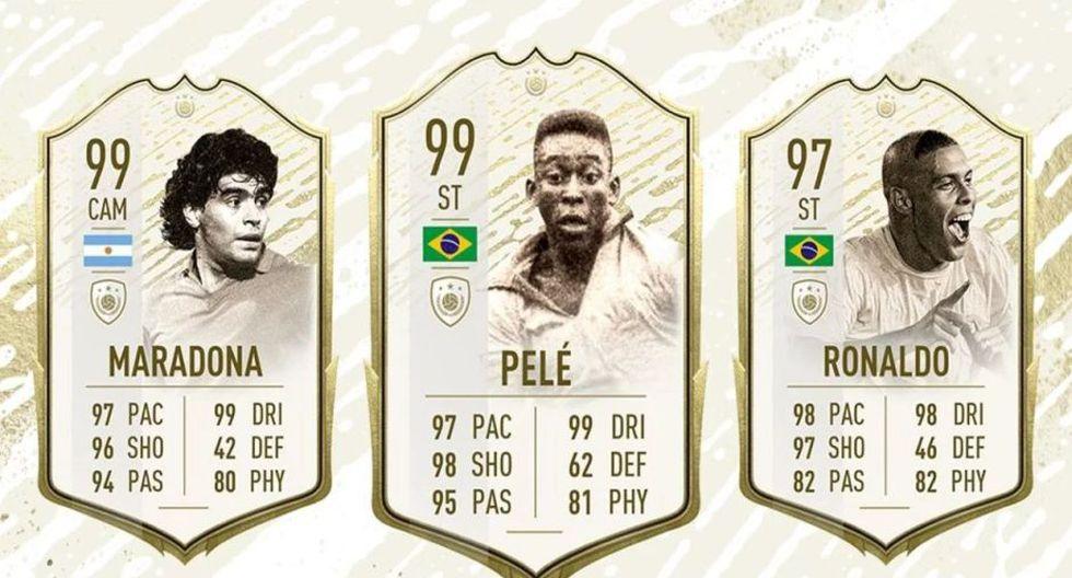 """FIFA 20: Pelé y Maradona alcanzaron su mejor versión en Ultimate Team tras el evento """"Winter Refresh""""."""