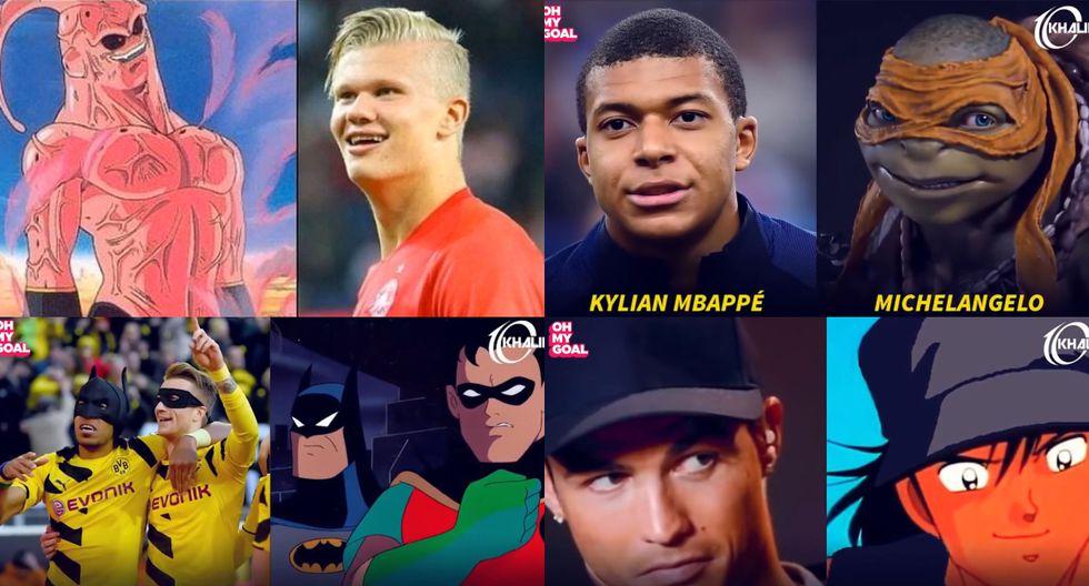 Con Halaand como Majin Buu: 28 futbolistas de la vida real que se parecen a personajes de dibujos animados [FOTOS]
