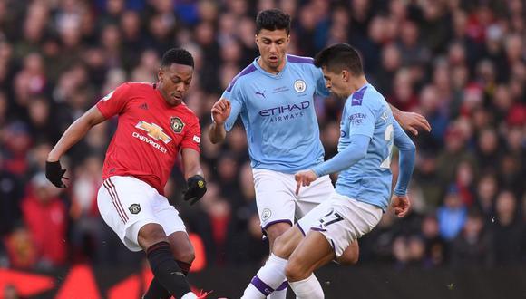 Manchester United vs. Manchester City, por la Premier League. (Foto: AFP)