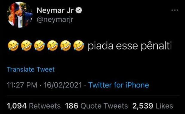 Image result for neymar twitter penal broma