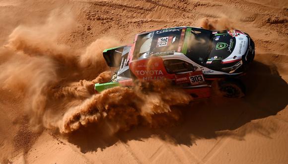 Saudí A Rajhi ganó la Etapa 10 del Dakar 2021 entre Neom y AlUla. (Foto: AFP)