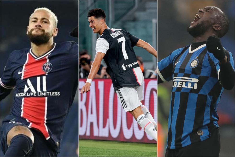 Los jugadores con más goles de penal en 2020 en las cinco grandes ligas de Europa. (Getty)