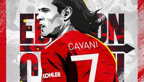 Edinson Cavani acordó su llegada a Manchester United tras dejar PSG. (Foto: Manchester United)