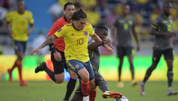 Colombia empató 0-0 con Ecuador, por la fecha 12 de las Eliminatorias. (Foto: AFP).