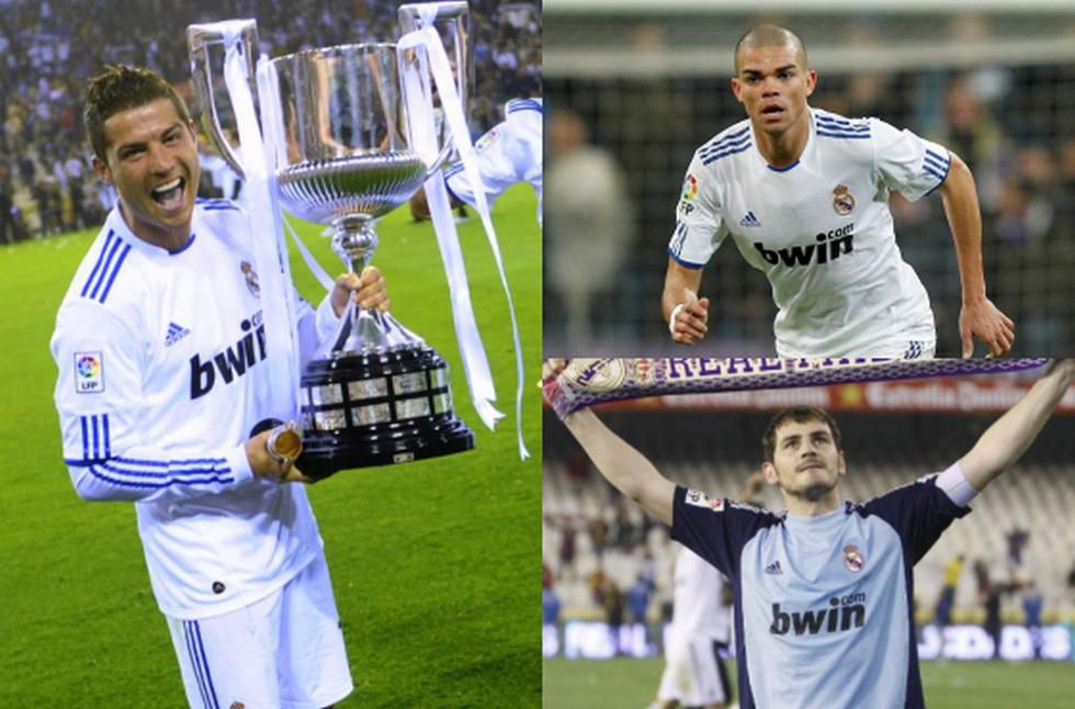Este es el Real Madrid, entre titulares y los que entraron como suplentes, que le ganó al Barcelona 2011.