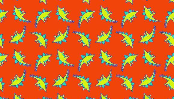 Diviértete con este reto viral en el que tienes que hallar 4 dinosaurios que son diferentes al resto en la imagen. (Foto: Noticieros Televisa)