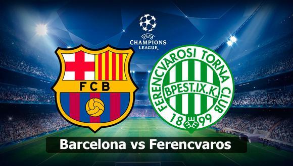 Para ver el Barcelona vs Ferencváros en vivo, te damos algunas opciones por TV y streaming. ¿Quién ganará hoy en el debut de Champions League? (Foto: AFP)