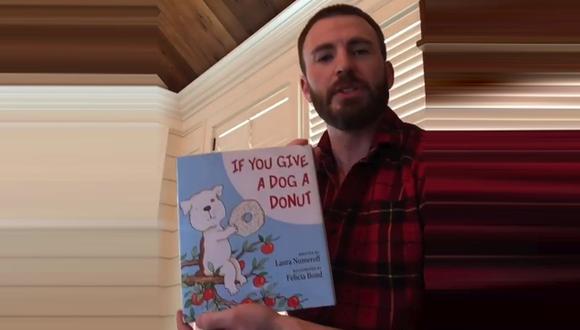 Chris Evans se suma a noble campaña y lee cuentos infantiles a niños durante la cuarentena. (Foto: Captura de video)