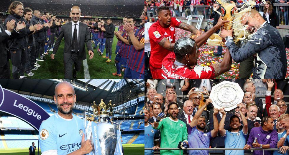En apenas once años de carrera: los 28 títulos de Guardiola como entrenador de fútbol profesional [FOTOS]