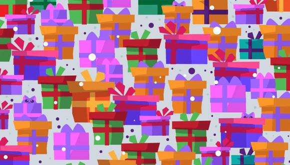 Halla los gatos que están escondidos entre los regalos. (Foto: Noticieros Televisa)