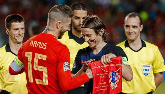 Sergio Ramos y Luka Modric han ganado cuatro Champions League en Rea Madrid. (Foto: Getty)