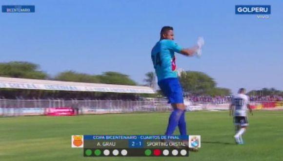 Arquero de Atlético Grau le tapó un penal a Cristian Palacios. (Video: GOLPERU)