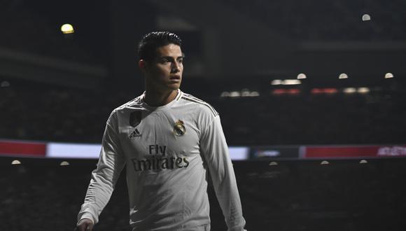 James Rodríguez llegó al Everton esta temporada procente del Real Madrid. (Foto: AFP)