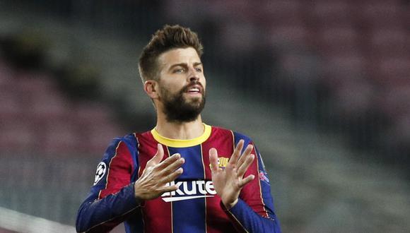 Gerard Piqué anotó en la victoria 2-1 del Barcelona ante el Dinamo. (Foto: AFP)