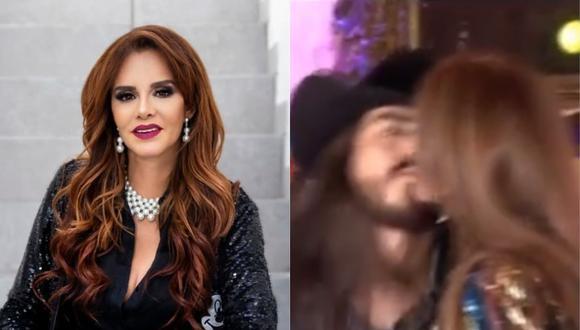 Youtuber Rey Grupero le robó un beso a Lucía Méndez y actriz le responde con una bofetada. (Foto: @luciamendezof/@reygruperomx)