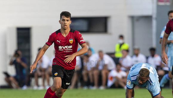 Alessandro Burlamaqui ingresó en el minuto 68 del partido amistoso ante el Cartagena. (Foto: Valencia)