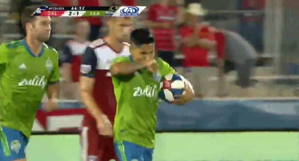 Raúl Ruidíaz y el GOL para el descuento de Seattle Sounders ante Dallas. (MLS)