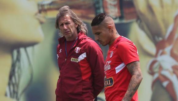 Ricardo Gareca no descartó convocar a Paolo Guerrero para disputar la Copa América de Brasil. (Foto: Fernando Sangama)