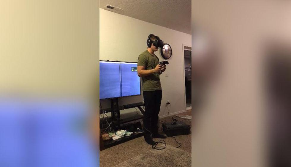 Este video es el motivo por el que las personas que sufren de vértigo no deberían de usar estos casco VR con los juegos más extremos del mundo. | Facebook