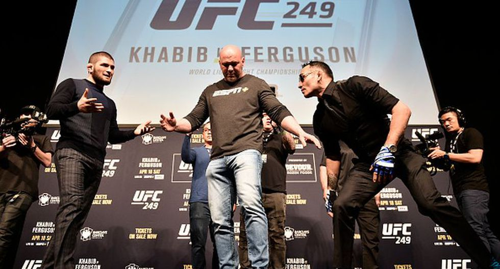 Khabib vs Ferguson sería cancelada por quinta vez en UFC debido a la propagación del coronavirus. (Getty Images)