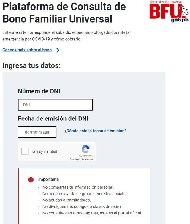 Segundo Bono Familiar Universal.