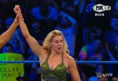 ¡Poderosa llave! Charlotte Flair derrotó a Ember Moon con una 'Figura 8' en SmackDown Live [VIDEO]