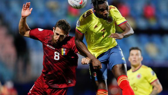 Colombia vs. Venezuela en el Olímpico de Goiania por la Copa América 2021. (Foto: Reuters)