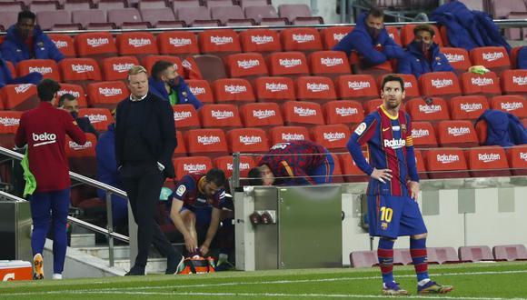 Ronald Koeman todavía no decide si Lionel Messi jugará la Supercopa de España. (Foto: AP)