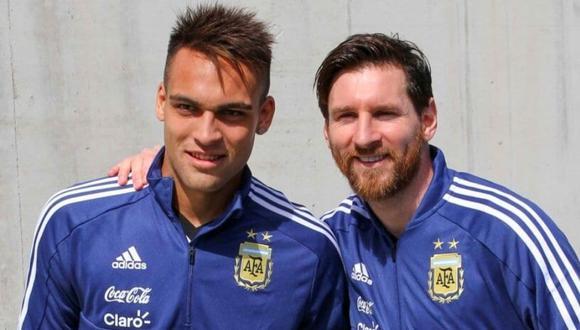 Lautaro Martínez no escatimó elogios con Lionel Messi.