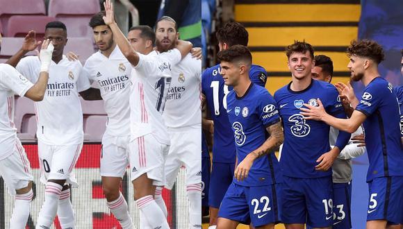 Chelsea FC y Real Madrid chocarán por las semifinales de la Champions League. (Fotos: Agencias)