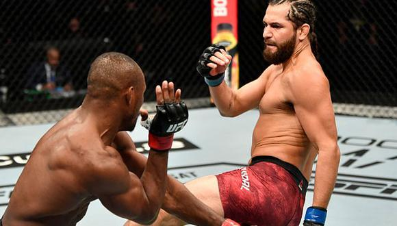 Jorge Masvidal regresó a entrenar tras su pelea por el título de peso wélter en el UFC 251. (Getty Images)