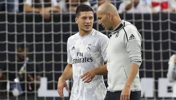 Zidane respondió sobre la idea que no quiere contar con Luka Jovic en el Real Madrid.