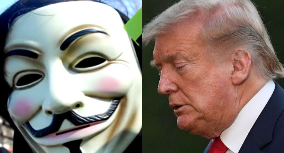 "Anonymus ""amenazó"" a Donald Trump, tras la muerte de George Floyd. (Foto: Captura/AFP)"