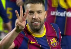 Liquida el encuentro: Jordi Alba marcó el 3-0 de la goleada del Barcelona vs. Elche [VIDEO]