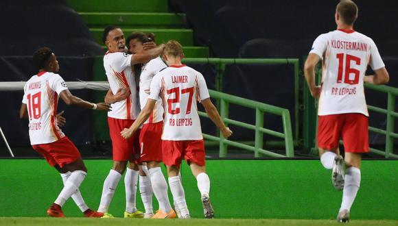 RB Leipzig clasificó a las semifinales de Champions League por vez primera en su historia. (AFP)
