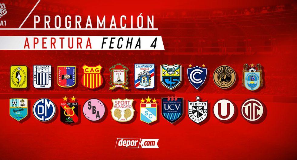 Así será la programación de la fecha 4 del Torneo Apertura de la Liga 1. (Diseño Depor)