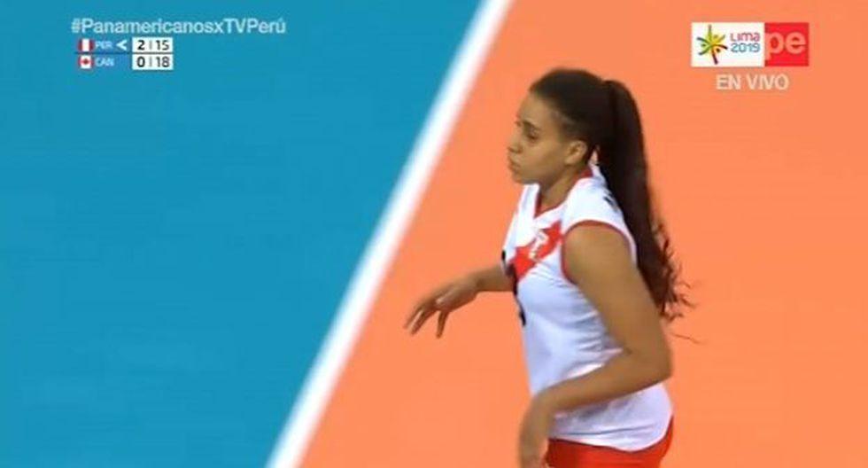 Thaisa Mc Leod sumó tres puntos para Perú en los Juegos Panamericanos. (Lima 2019)