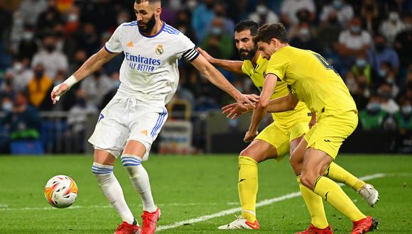 Real Madrid y Villarreal empataron 0-0 por la séptima fecha de LaLiga Santander. (Foto: AFP)