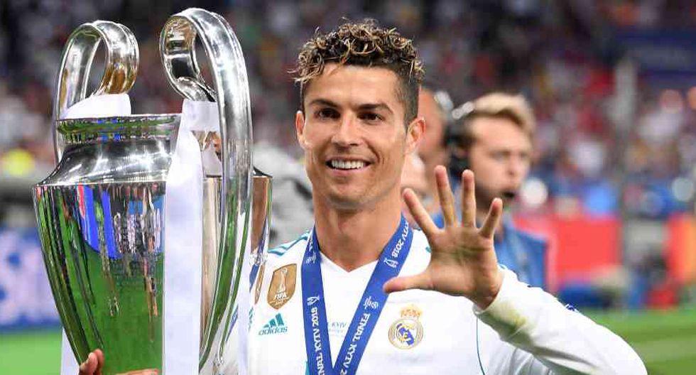 Las cinco Champions de Cristiano Ronaldo (Foto: AFP).